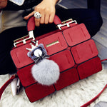 suture Boston bag inclined shoulder ladies hand bag women PU leather handbag sac woman bags handbags women famous brands