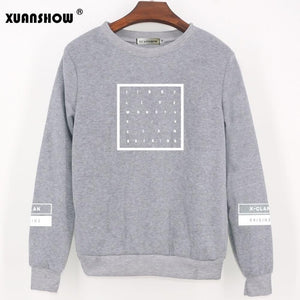 2018 New Fashion Sweatshirt Hoodies MONSTA X KPOP Fans Clothes Long Sleeve Casual Women's Pullovers Fleece Tracksuits Women Tops