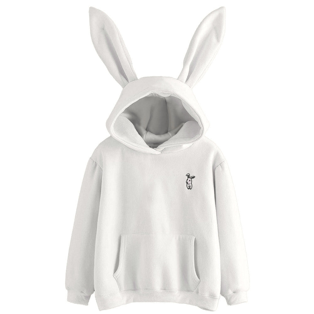 Feitong 2018 Hoodies Harajuku Womens Long Sleeve Rabbit Hoodie Sweatshirt Pullover Tops Blouse Hoodies Winter Season unicorn Hot