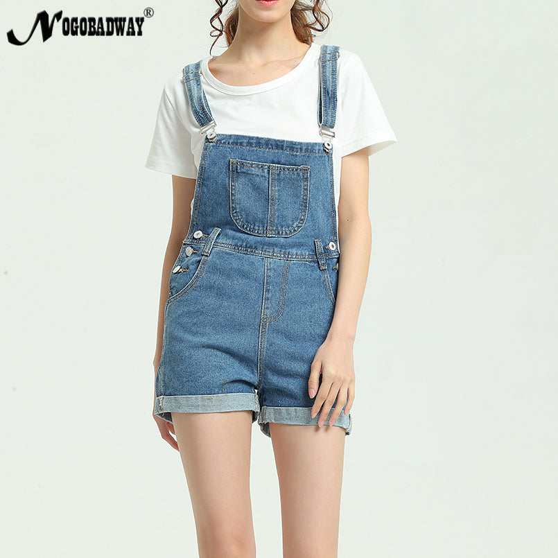 2018 New Summer Short Denim Jumpsuit Women Casual Jeans Romper Playsuits Fashion Bandage Dungarees Overalls Shorts For Ladies