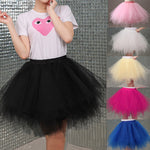 2018 Tulle Skirts Womens High Quality Elastic Stretchy Tulle Teen Layers Summer Womens Adult Tutu Skirt  Pleated Mini Skirts