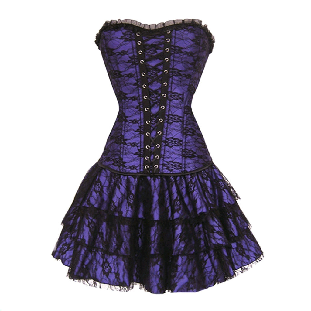 4 Colors S-6XL Sexy Corselet Women Plus Size Satin Overbust Embroidered Corset Bustier Dress Push Up Waist Training
