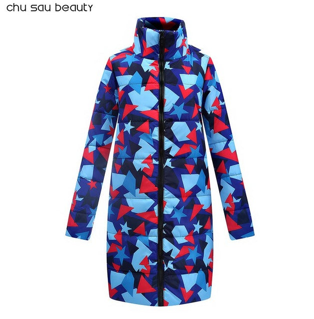 2018 New Autumn Winter long jacket Women Coat Fashion Female Down jacket Women Parkas Casual Jackets Inverno Parka Wadded CY1622