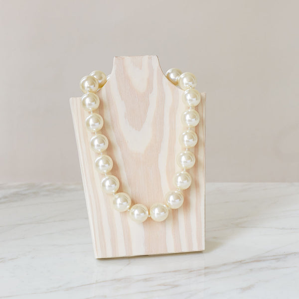 "Ivory White 20"" Necklace - hotgirlspearls"