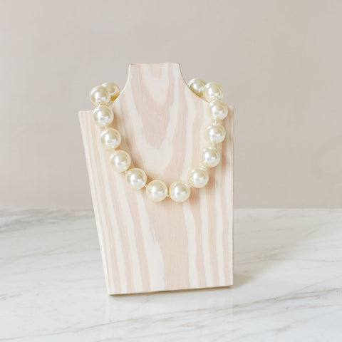 "Ivory White  16"" Necklace - hotgirlspearls"
