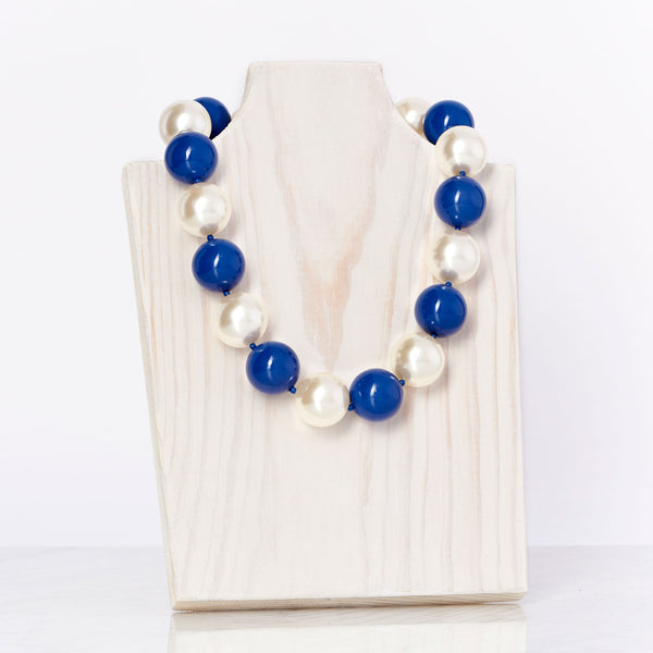 Blue/Ivory Necklace