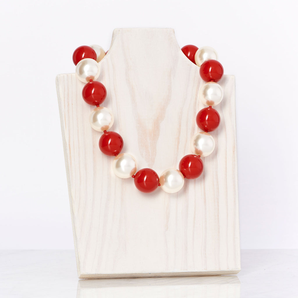 Red/Ivory Necklace