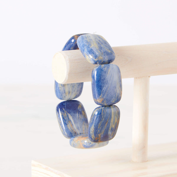 Blue Lapis Chicklet Cooling Bracelet Pre-Order Now-Delivers in early June