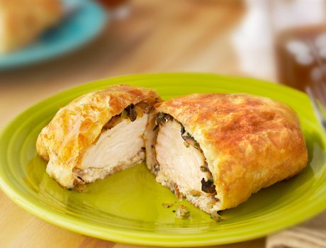 Chicken Wellington with Fresh House Salad