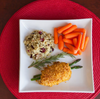 Rolled Asparagus & Asiago Chicken with Cranberry Rice