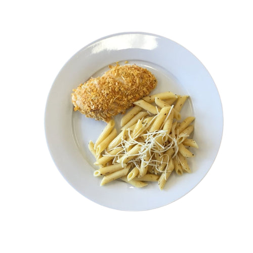 Ranch Crusted Chicken with Parmesan & Herb Pasta
