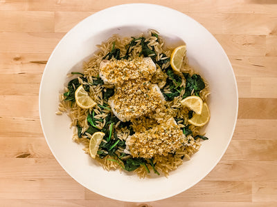 *Fresh* Baked Cod with Garlic & Herb Crumb Topping