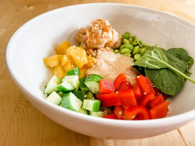 *Fresh* Ginger Shrimp Poke Bowl