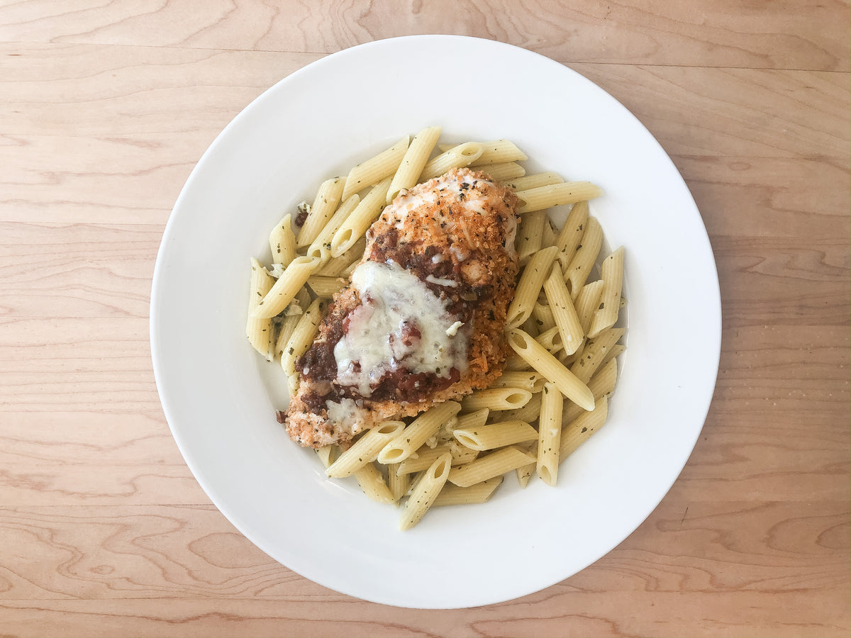 Bruschetta Chicken with Parmesan Pasta