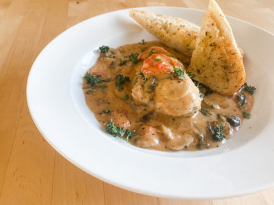 *Fresh* Creamy Tuscan Chicken with Baguette