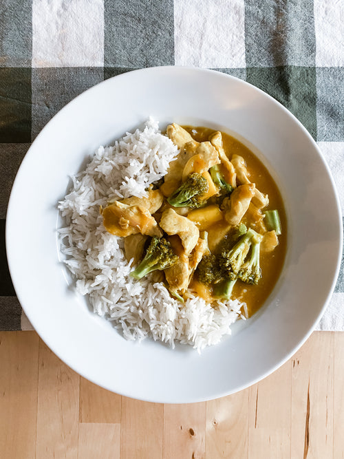 Mango Chicken Curry over Basmati Rice