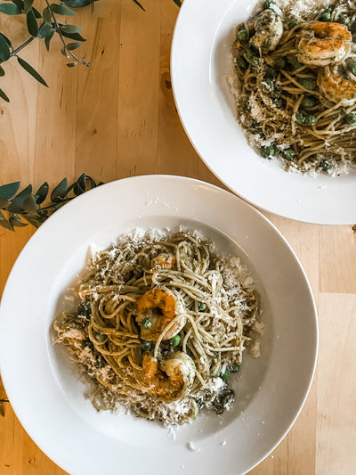 Pesto Shrimp Capellini
