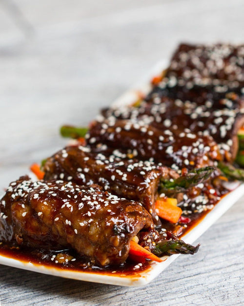Sizzling Teriyaki Steak Roll Ups