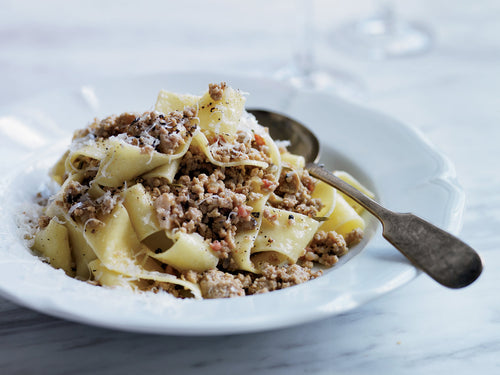 Winter Bolognese with Pappardelle Pasta