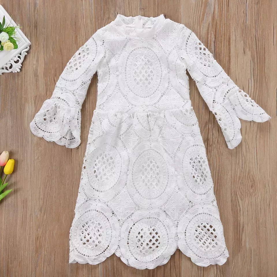Flare sleeve lace dress