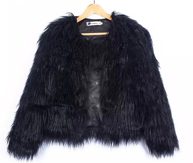 North West Black  faux fur jacket