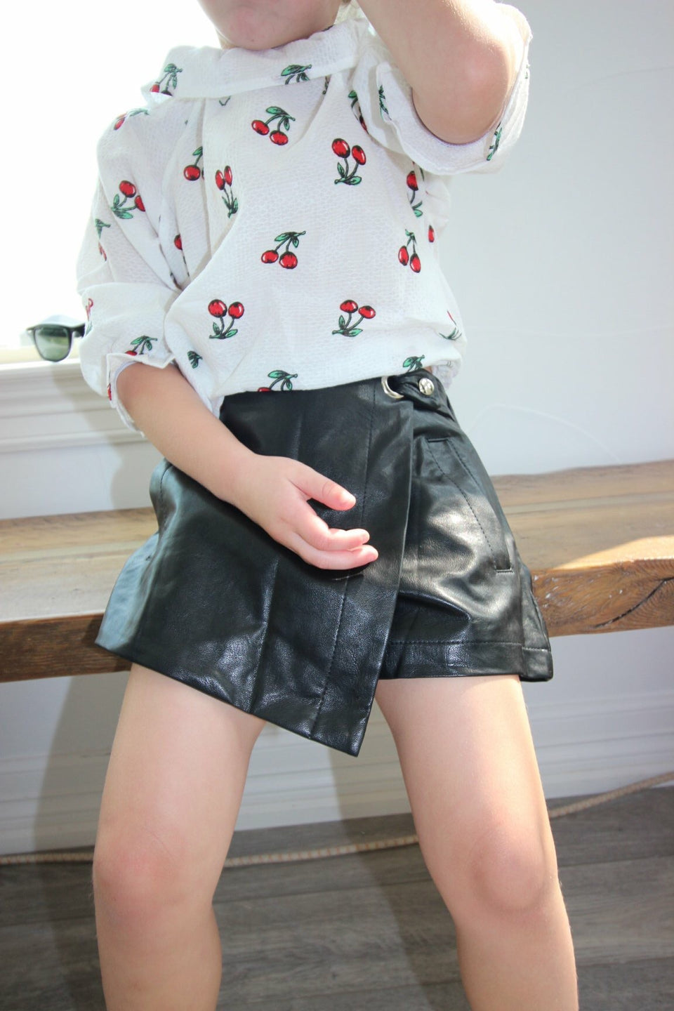 Faux Leather skort