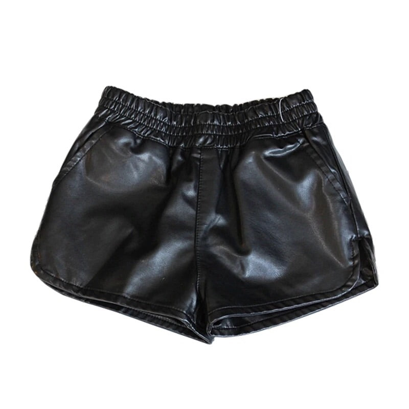 Wardrobe essential faux leather shorts
