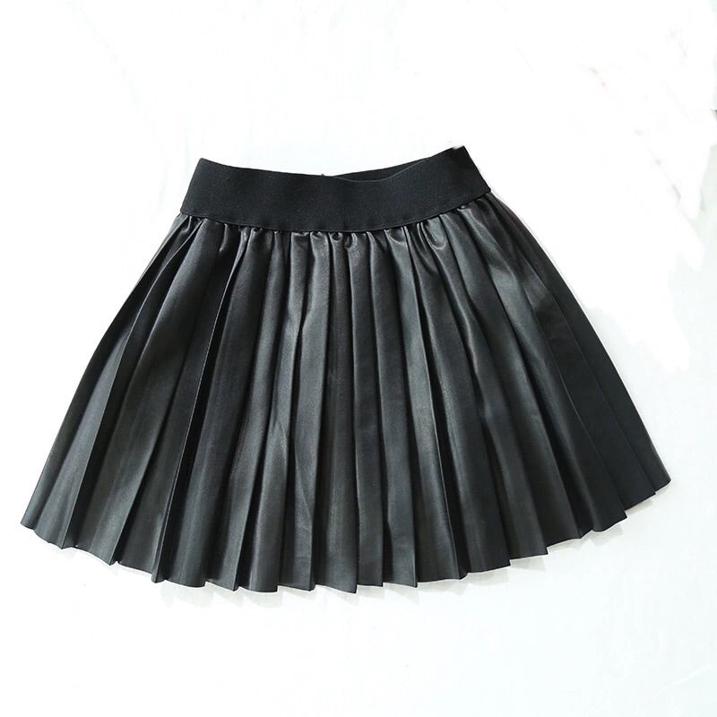 Tougher than (faux) leather  pleated skirt