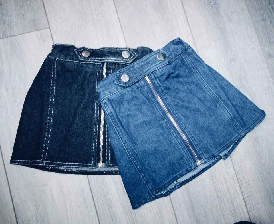 Blue Denim Zip it up skirt