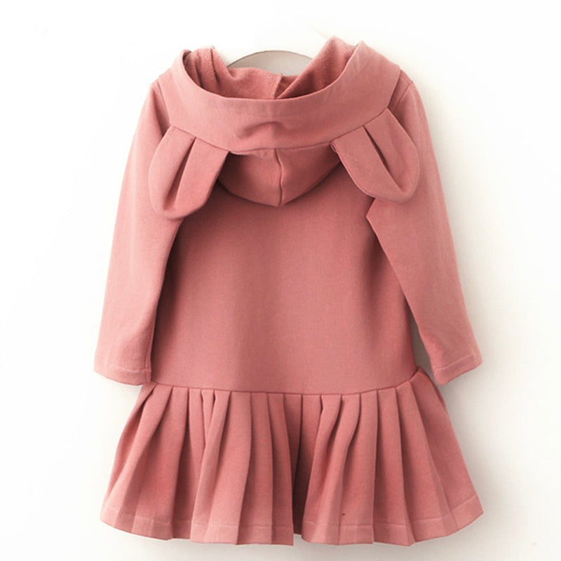 Bunny ear hoodie dress