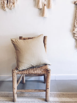 Linen Frayed Cushion Cover