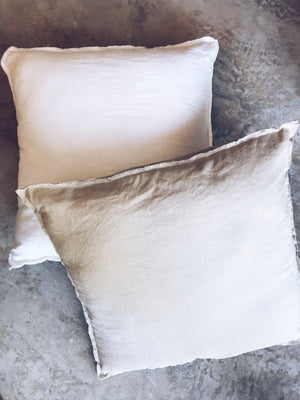 Frayed cushion cover