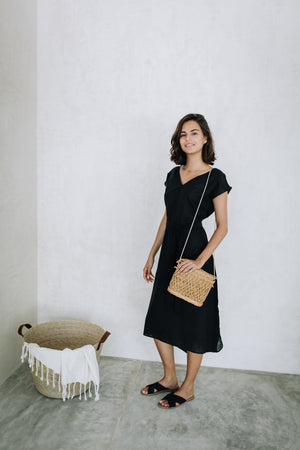 Linen Midi Dress - La Institutriz