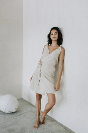Linen Wrap Dress - La Costurera