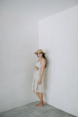 Linen Strappy Dress - La Alfarera