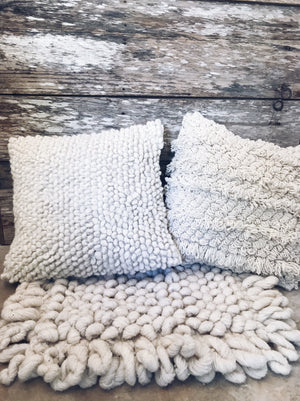Wool Pillow Cover - Rosa