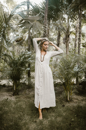 Linen Button Down Dress