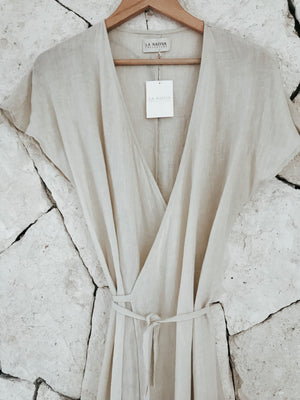 Arena Long wrap Dress