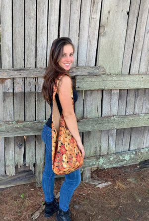 Fall & Floral Shoulder Bag