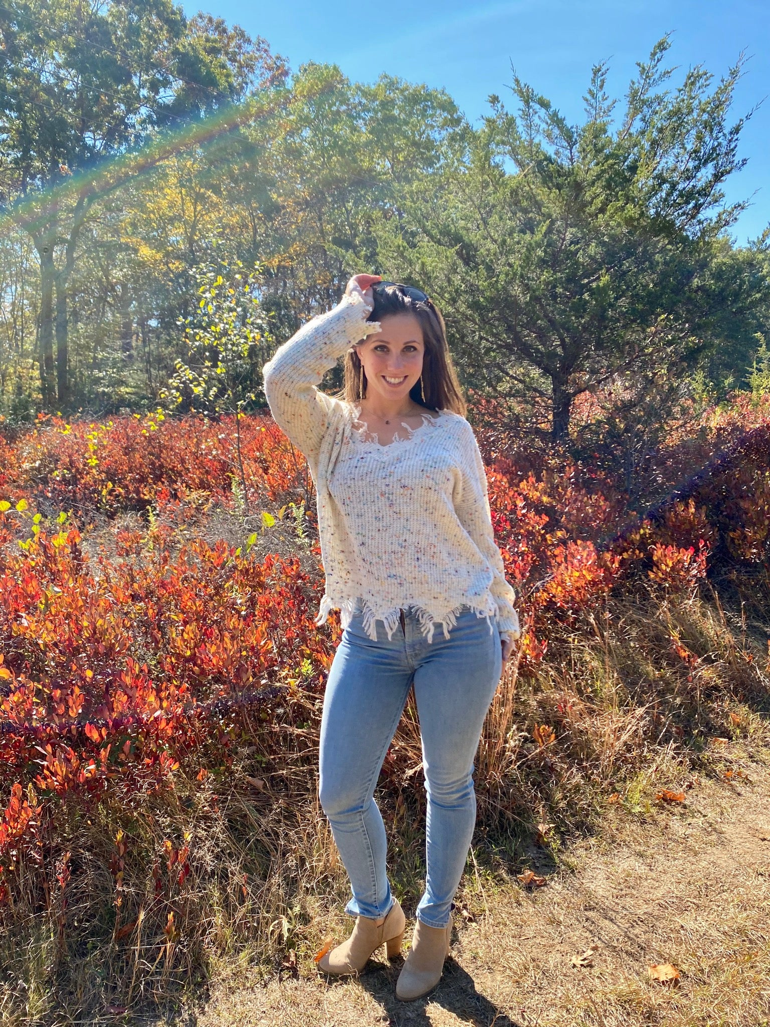 Natural Confetti Knit Sweater