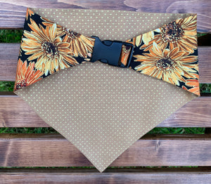 Fall & Floral Dog Bandana