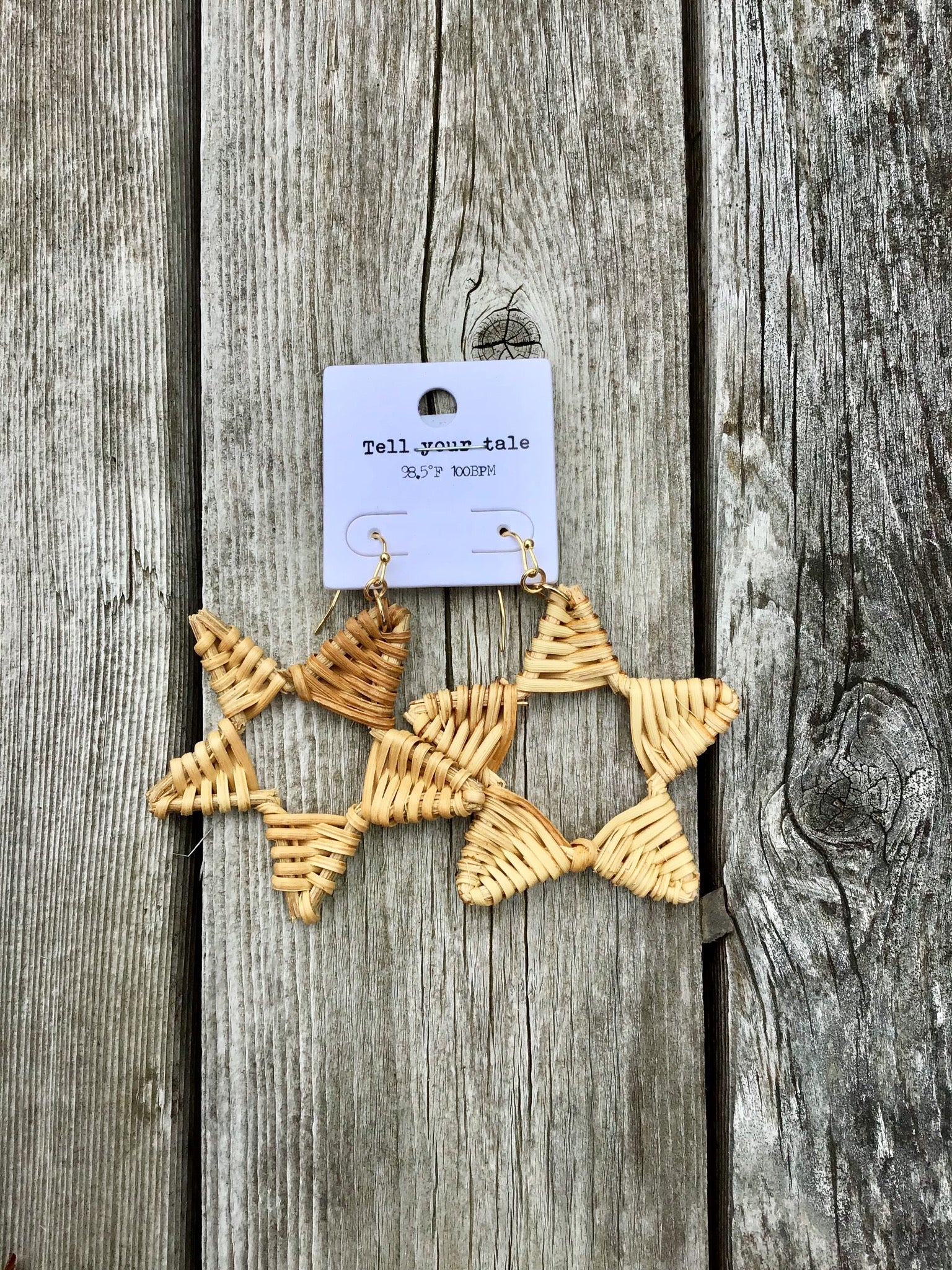 Wicker Star Earrings