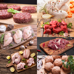 FAMILY BOX 25 LBS BEEF CHICKEN LAMB- Free Shipping