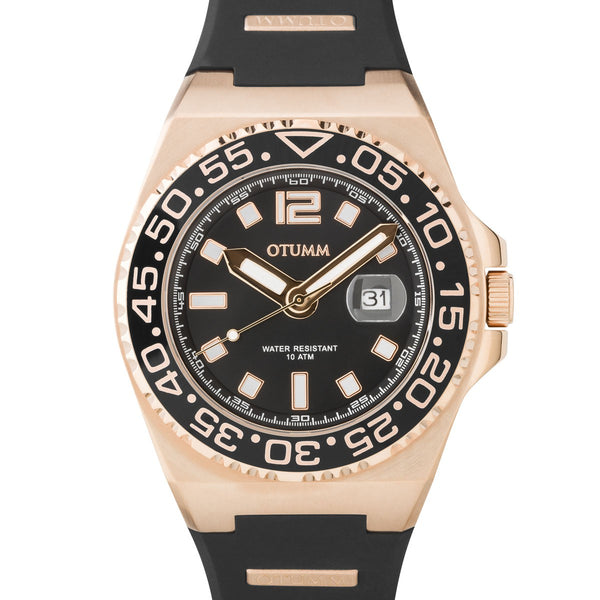 Athletics II Rose Gold Calendar Black 45mm