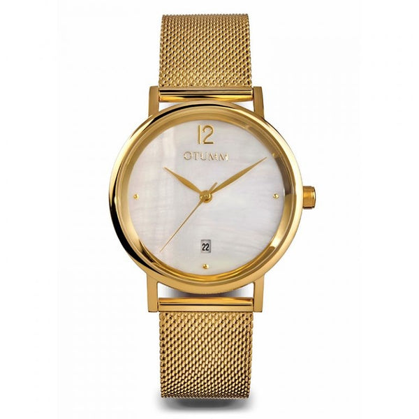 Mesh Lady Gold Calendar MOP 36mm