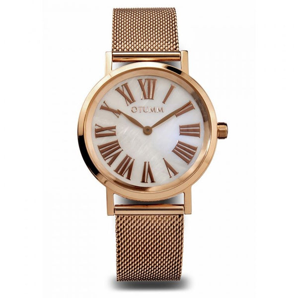 Mesh Rose Gold Calendar 36mm