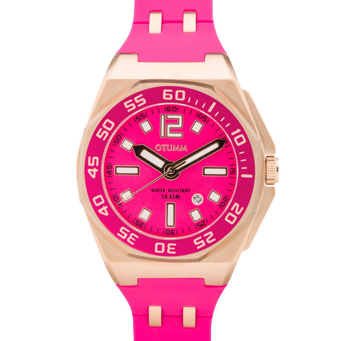 Sports Calendar Rose Gold 0206 Pink 50mm