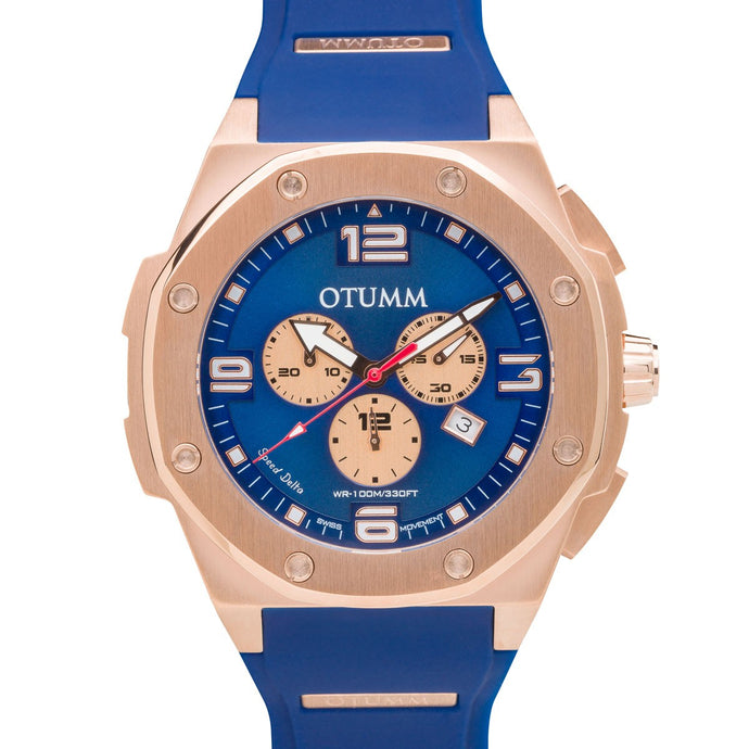 Speed Rose Gold 006 Blue 53mm