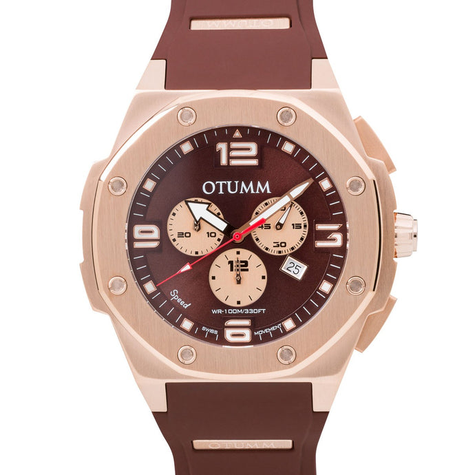 Speed Rose Gold Chocolate 53mm