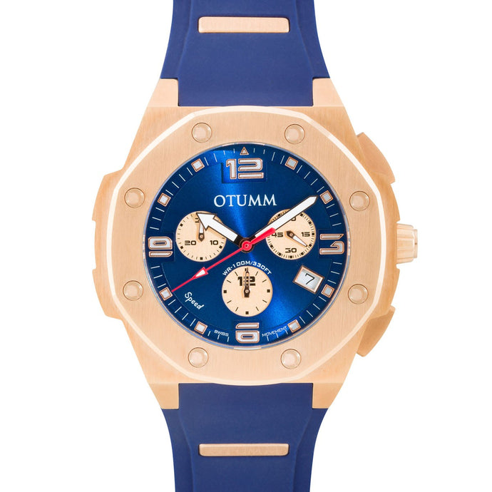 Speed Rose Gold 007 Blue 45mm